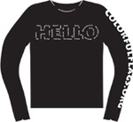 Hello Colorful Flags T-Shirt (Short Sleeve)
