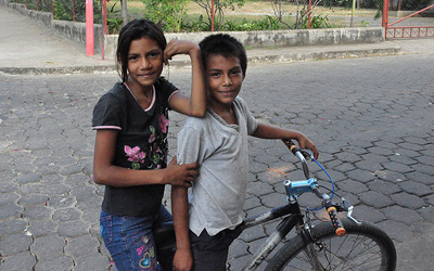 Mexican kids on a bike, photo credit permanently scatterbrained on Flickr
